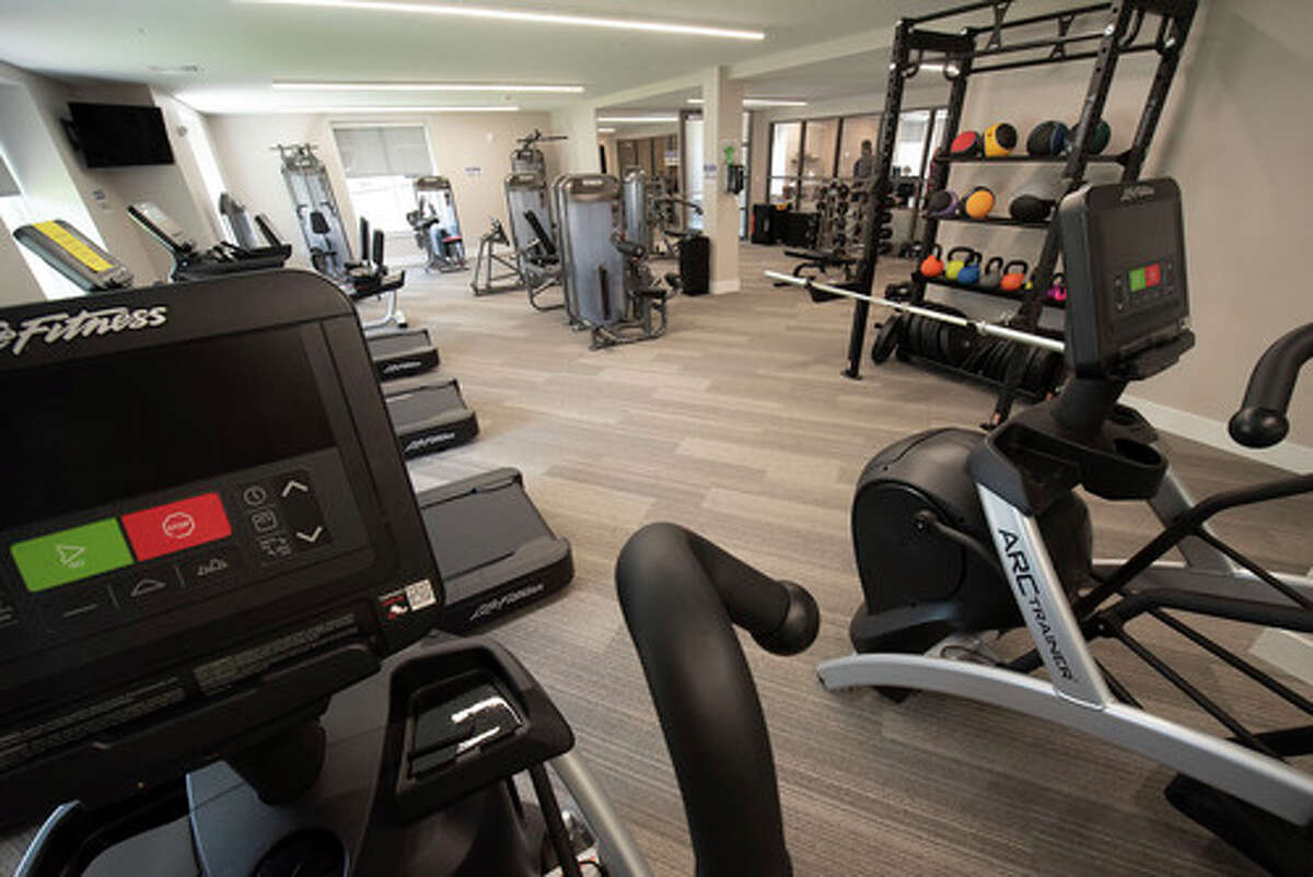 Fitness center in the new Landmark apartments located on Fuller Road on Wednesday, June 23, 2021 in Albany, N.Y. (Lori Van Buren/Times Union)