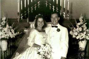 Vernon and Brenda Langer at their wedding