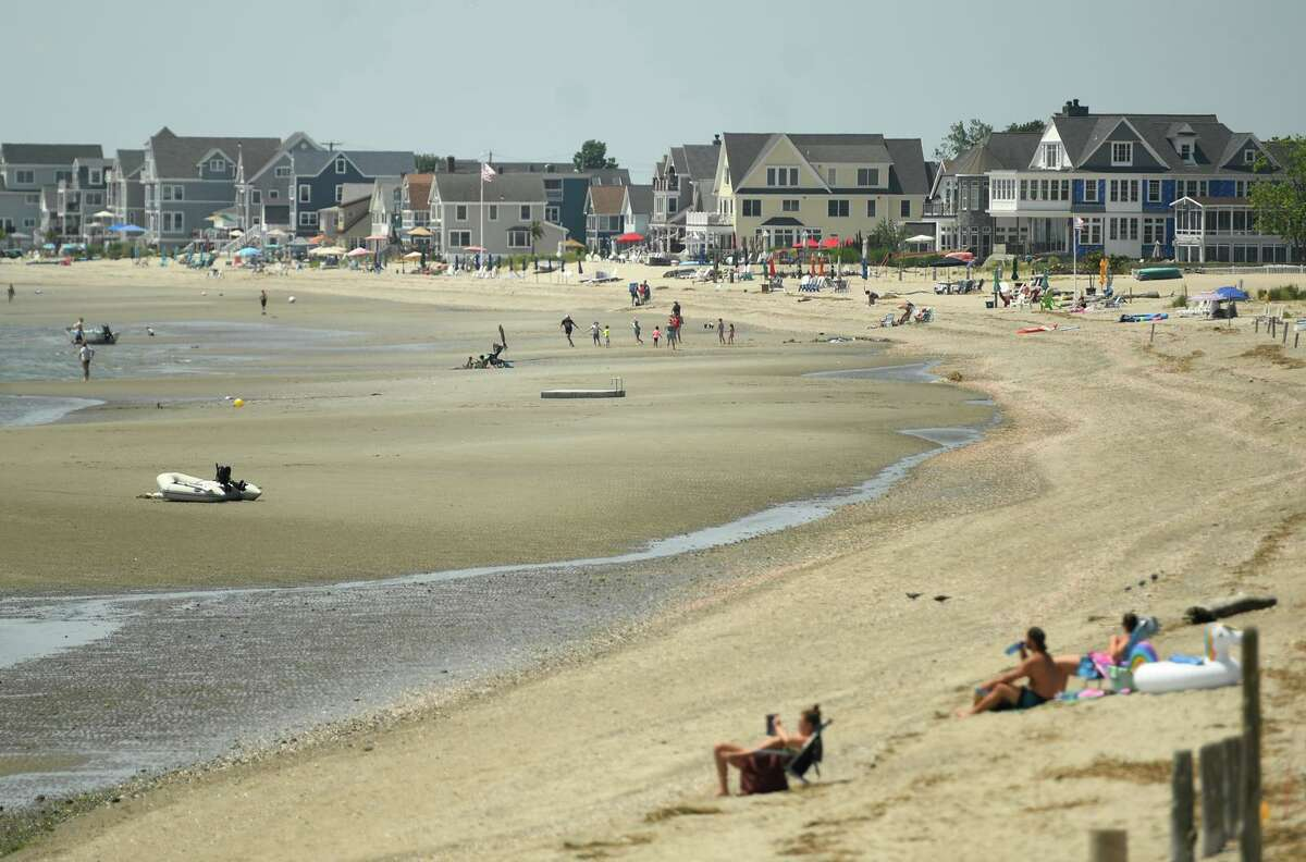 Waterfront residences in Milford, Conn., on a hot summer day in June 2021. The city is undertaking a revaluation of its real estate in 2021, with Connecticut seeing big swings in last year's grand list totals from a 23 percent increase in Bridgeport to a 5 percent drop in Westport.
