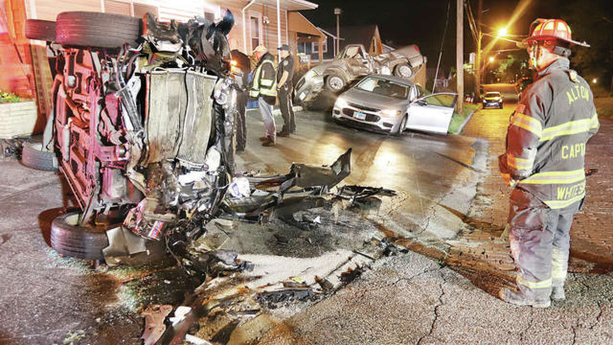 A three-car accident early Friday at Spaulding and Brown streets resulted in major damage, but no hospital admissions. Alton firefighters got the call at about 2:40 a.m. Friday and all involved reported only minor injuries.
