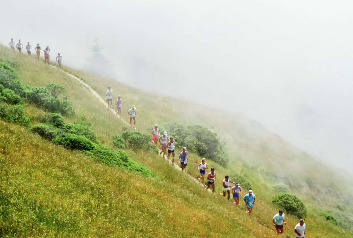 Runners participate in the the 81st Annual Dipsea Race from Mill Valley to Stinson Beach on June 9, 1991.