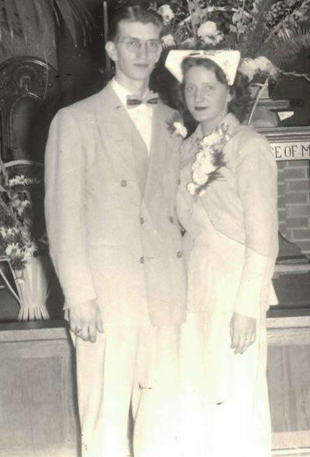 John and Mary Beard at their wedding