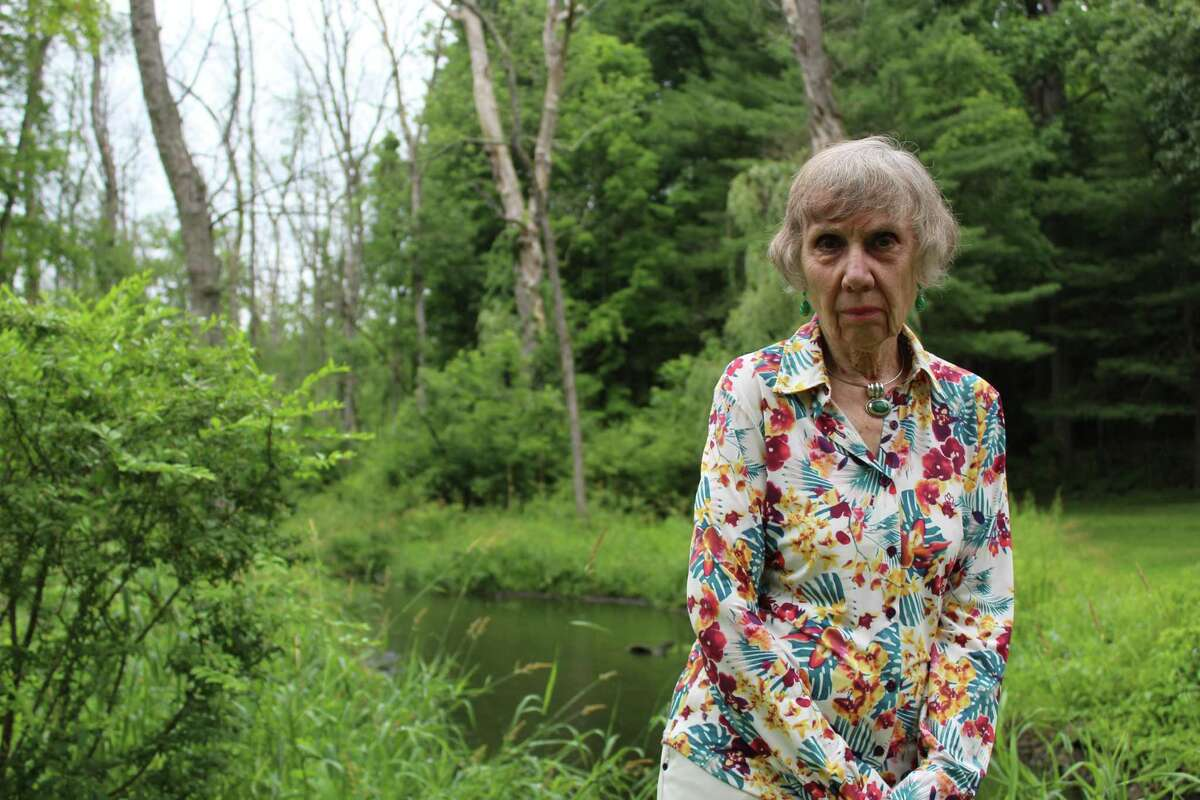 Nancy Lincoln lives along the Ridgefield Brooke at 4 Brookside Drive. Her property would be adversely impacted if the state decides to move with decommissioning a dam near Fox Hill Condominiums.