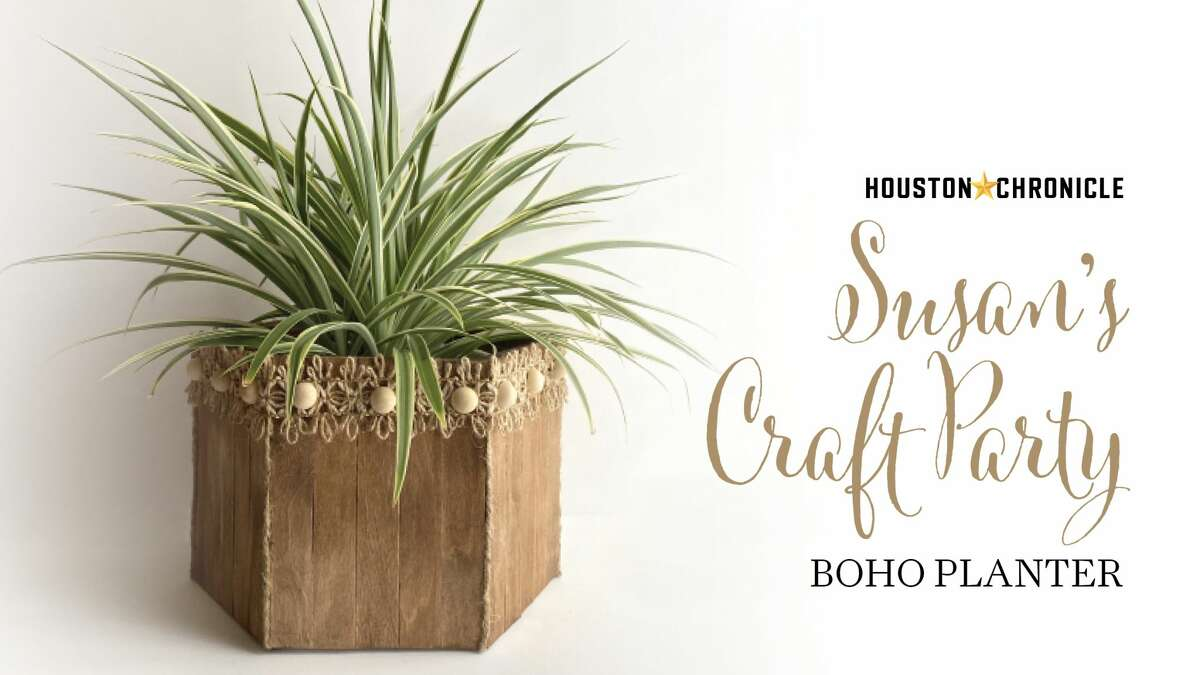 BOHO PLANTER Make a planter out of paint sticks and dollar store frames. Customize and decorate to fit your decor.