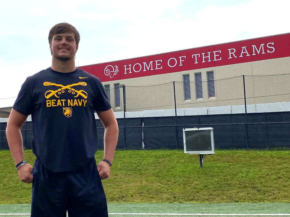 New Canaan football captain Ned Brady at Dunning Field Friday. Brady has committed to play football at West Point in 2022.