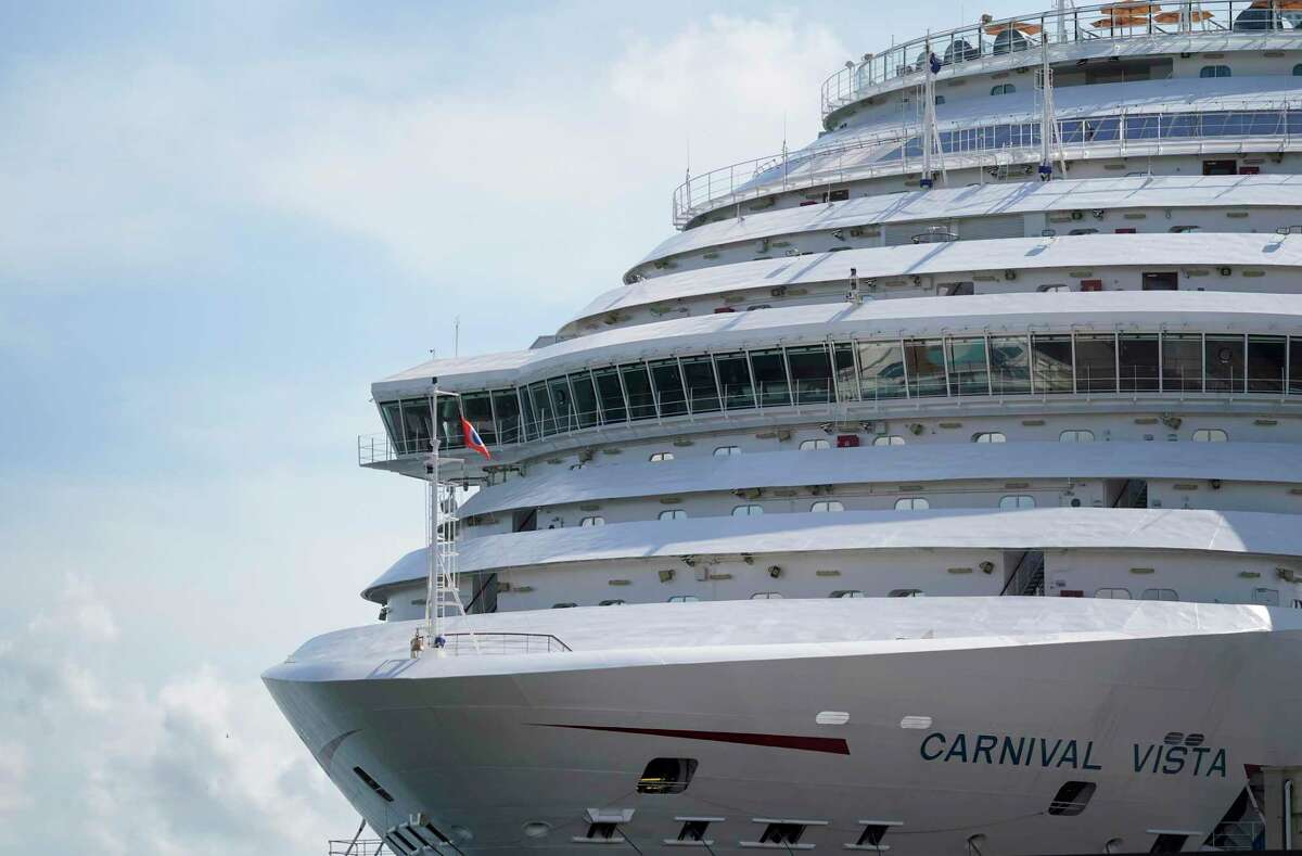 The Carnival Vista is shown at the Port of Galveston Friday, July 2, 2021 in Galveston.