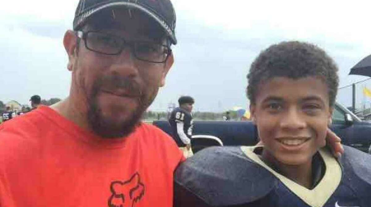 Richard Allen Mireles Jr. (left) and son Nicholas Austin Mireles (right) drowned while swimming at Port Aransas earlier this week.