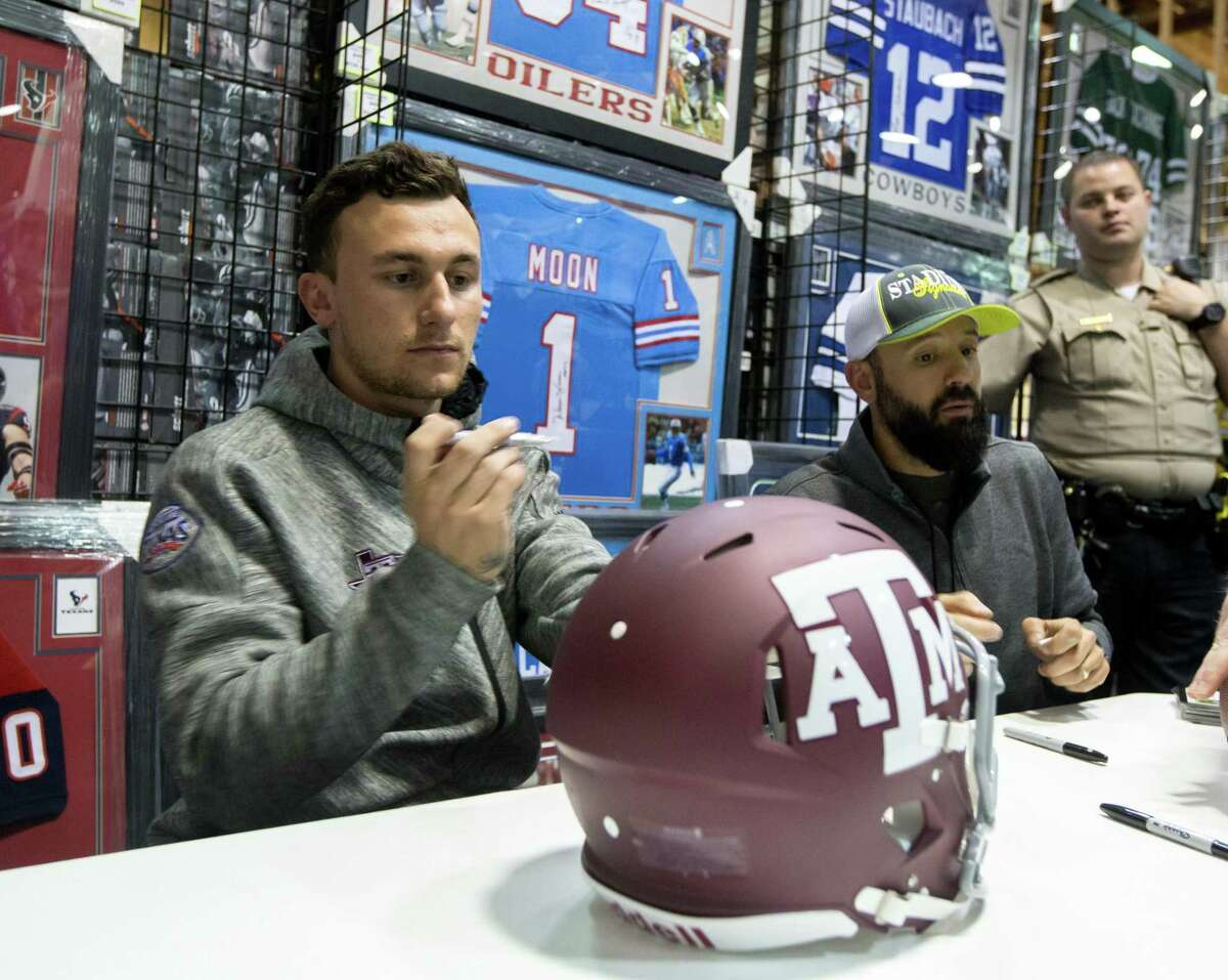 Johnny Manziel, at an event during Super Bowl week in Houston in 2017, couldn't cash in on his autograph until he was out of school. Now, the NCAA is allowing athletes to profit on their names, images and likeness.