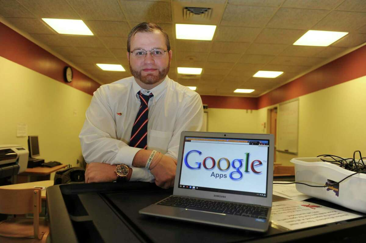 Aaron Johnson, a media specialist at Greenwich High School.