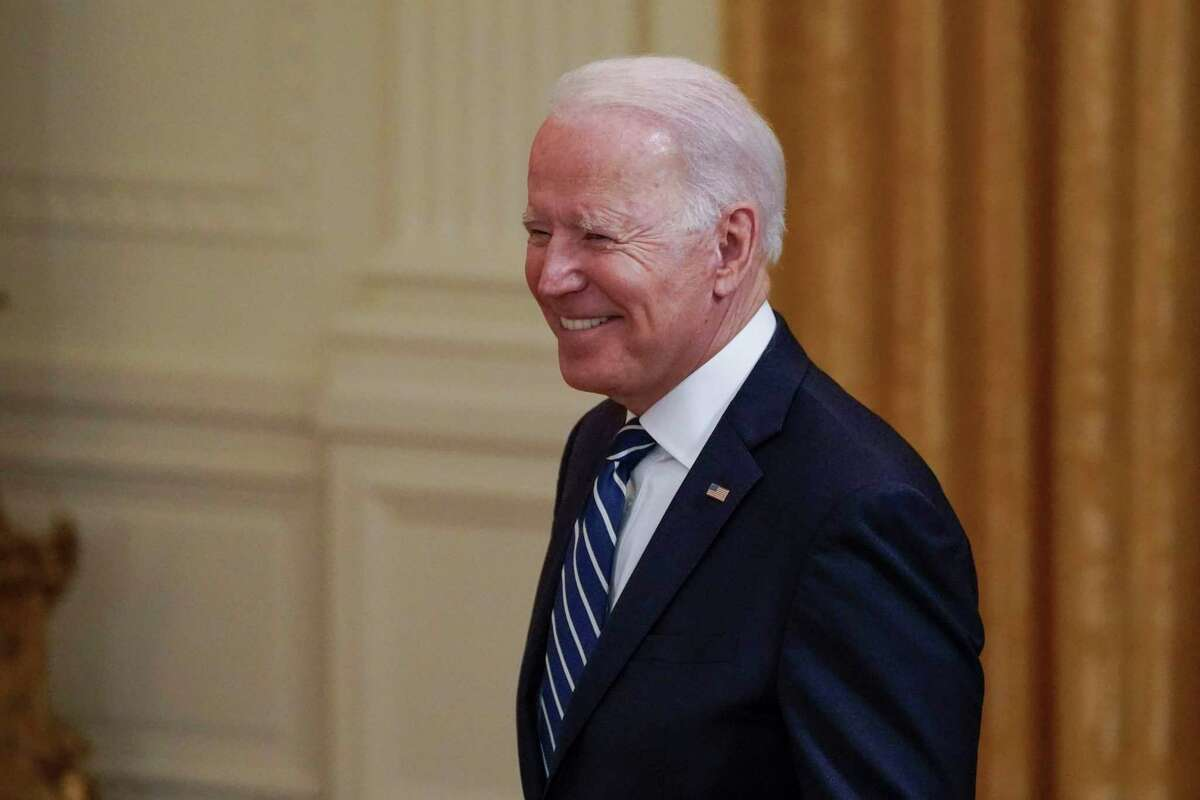 President Joe Biden arrives at an event to honor the 2020 World Series champion Los Angeles Dodgers baseball team at the White House, Friday, July 2, 2021, in Washington. (AP Photo/Julio Cortez)