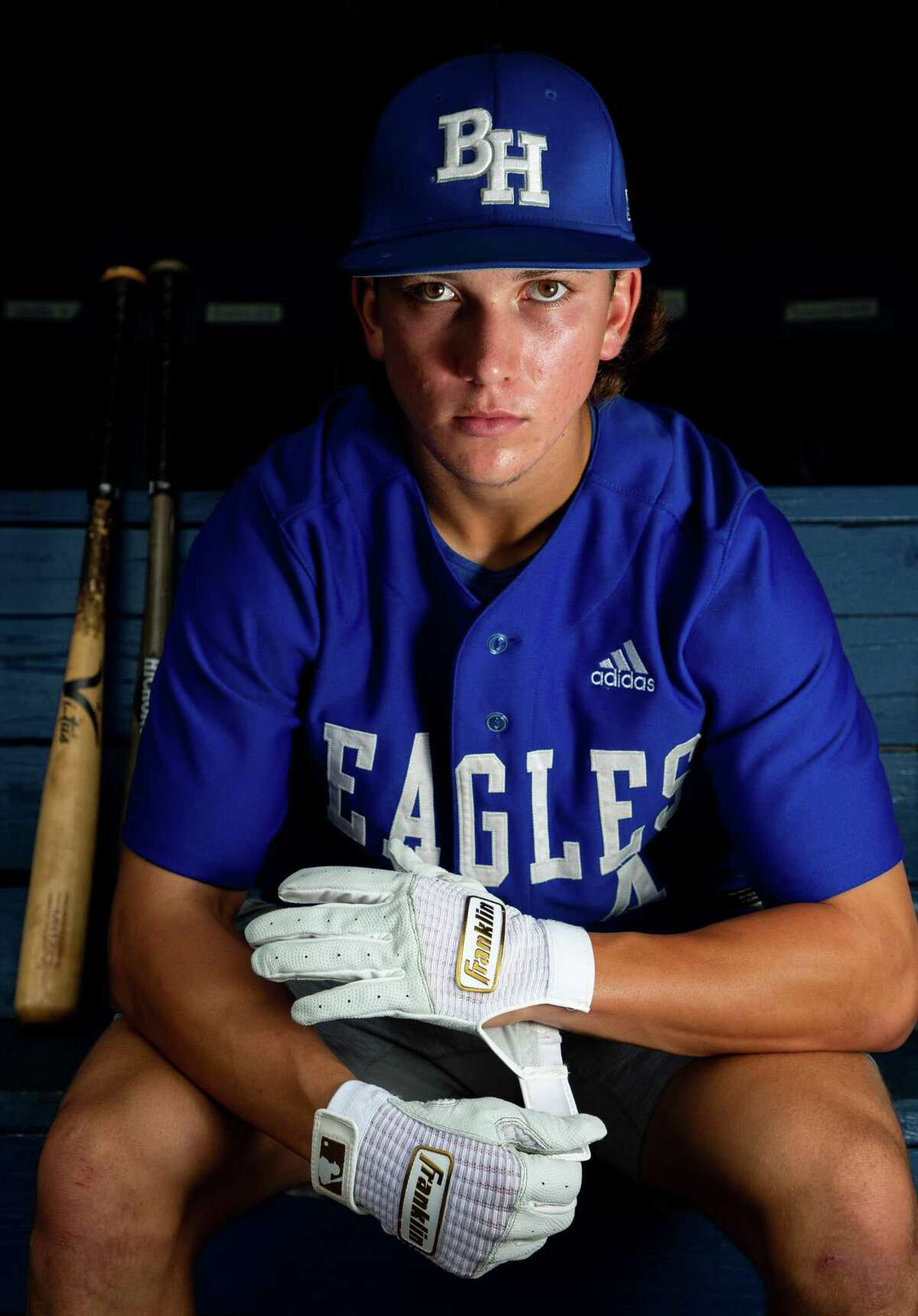 Barbers Hill Eagles senior shortstop Cameron Cauley - who was named All-Greater Houston Baseball Hitter of the Year - had a .445 batting average, with more than 50 stolen bases as the Eagles won the 5A state championship.