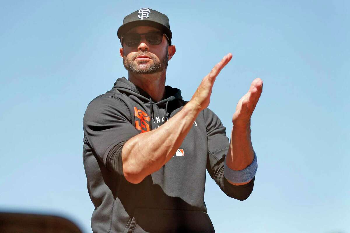 Manager Gabe Kapler will lead the Giants against the Diamondbacks at 7 p.m. Saturday in Phoenix. (NBCSBA)