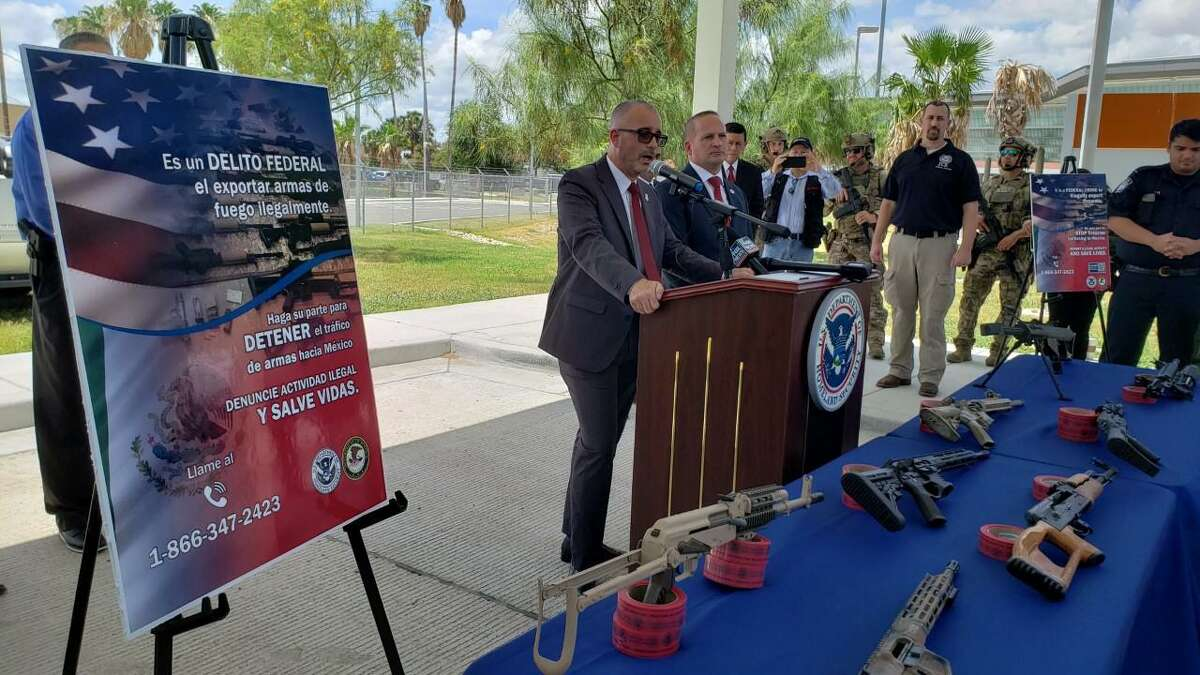 Joseph Lestrange, (Acting) Deputy Assistant Director, Homeland Security Investigations Transnational Organized Crime Division, talks about Operation Without a Trace, a unified effort to target gun smuggling.