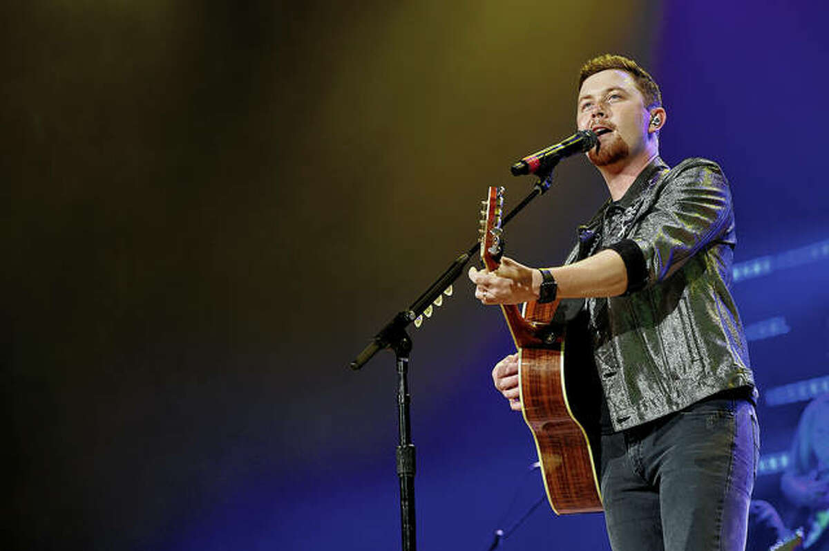 Scotty McCreery performs onstage at Ryman Auditorium in Nashville, Tennessee.