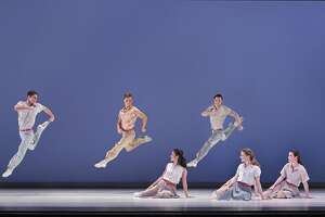 """Paul Taylor's """"Company B,"""" which is set to songs by the Andrews Sisters and inspired by 1940s dance styles, wasnperformed at PS21 Thursday night."""