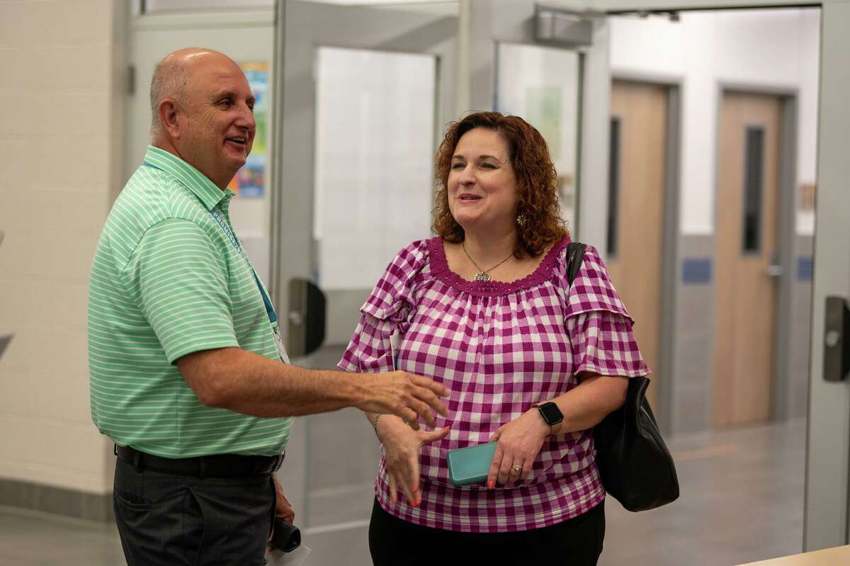 Jasper ISD staff tour Klein ISD's Lemm Elementary, which recently finished renovations after damage from Hurricane Harvey.