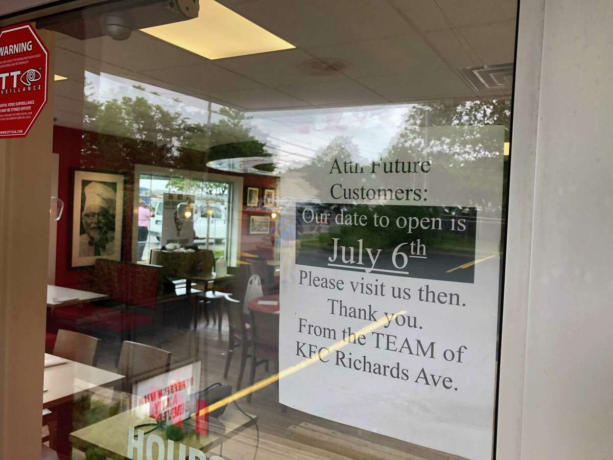 The KFC on Richards Avenue in Norwalk is slated to reopen on Tuesday, July 6.