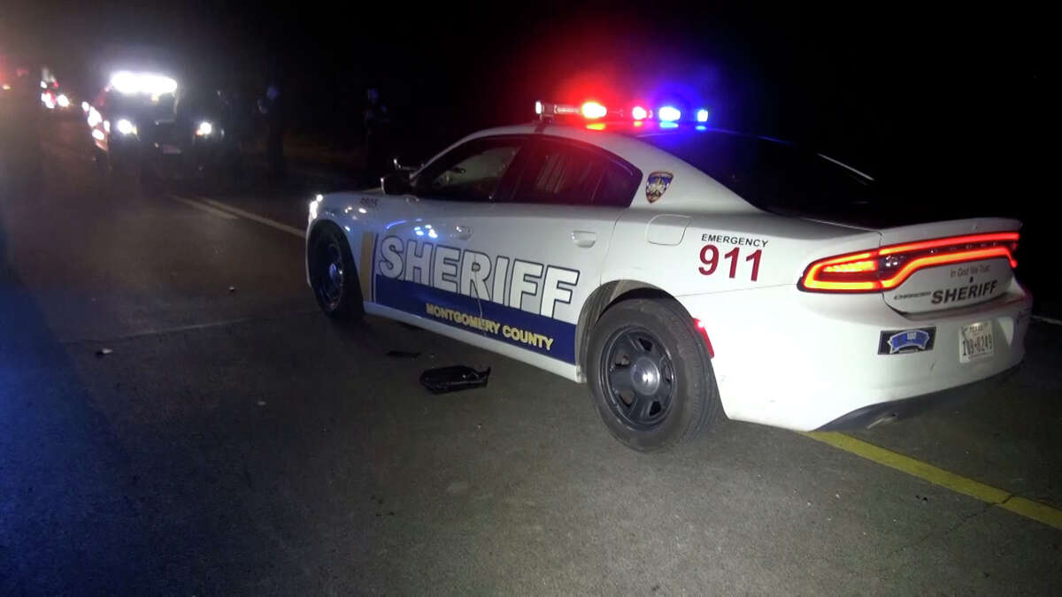 Montgomery County officials on Friday night arrested an intoxicated driver who crashed into a deputy's car.