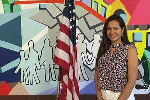 Alejandra Gomez, who works for Building One Community/The Center for Immigrant Opportunity in Stamford, is celebrating her first Fourth of July as a U.S. citizen.