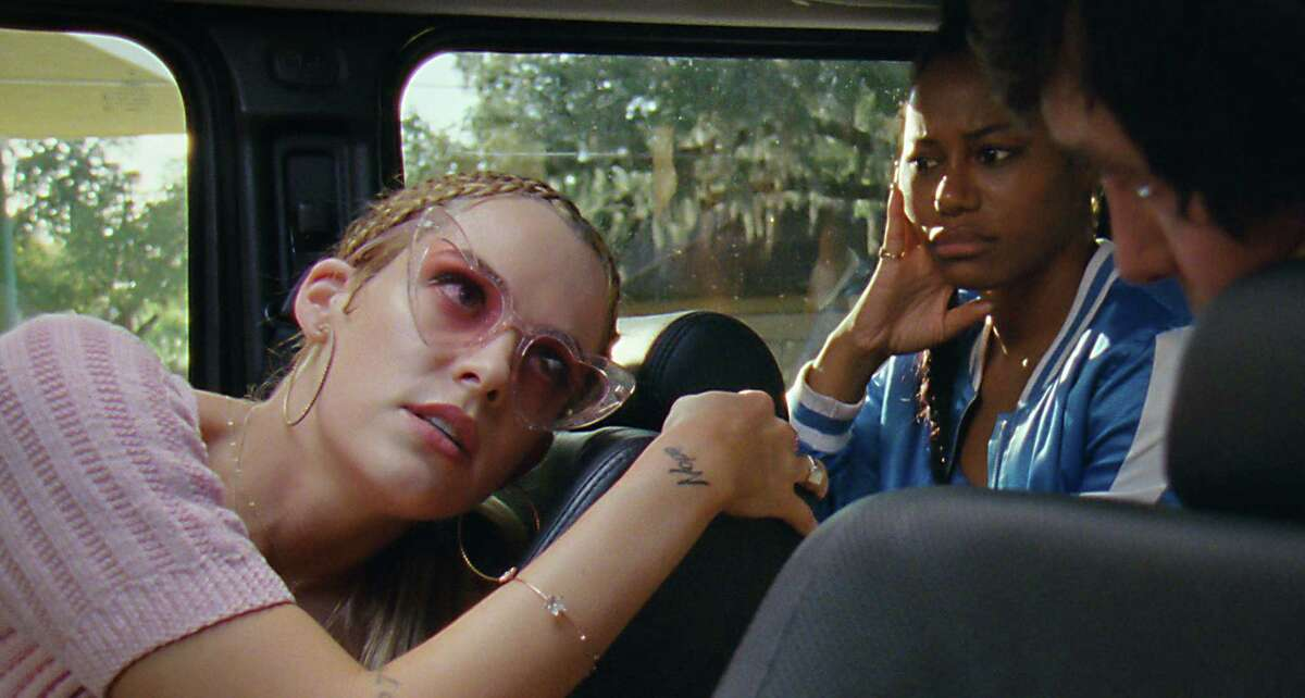 """Riley Keough, left, as Stefani and Taylour Paige as Zola in """"Zola."""""""