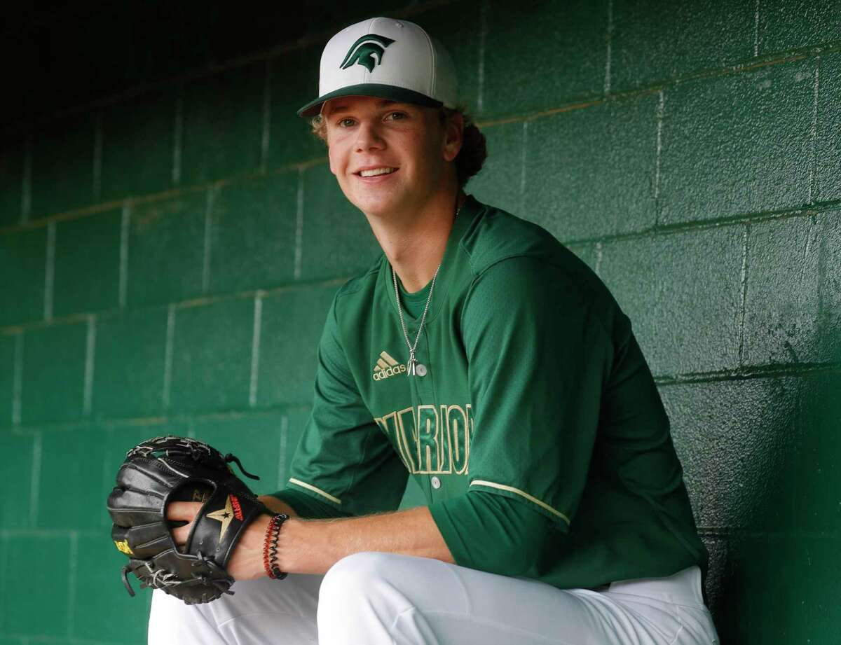 The Woodlands Christian Academy's Caedmon Parker, a TCU commit, withdrew his name for MLB draft consideration on Saturday.