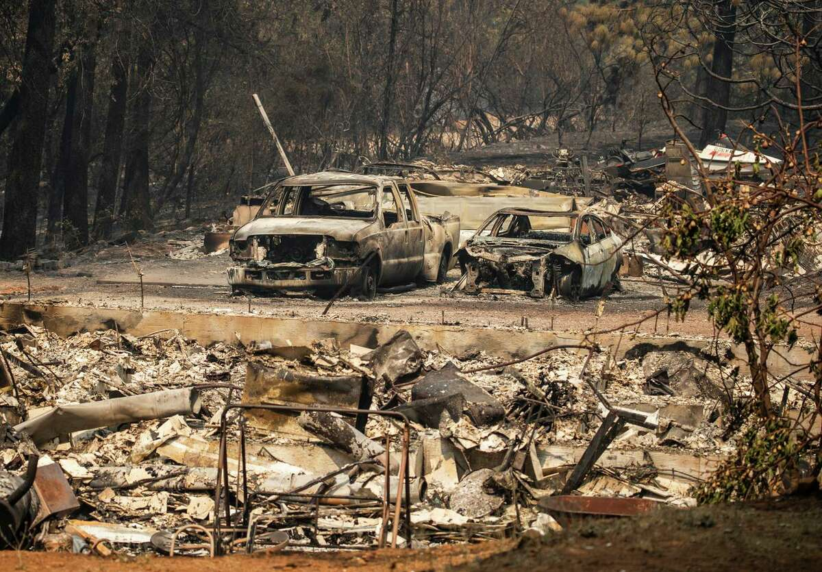 The Salt Fire scorched a property in the Gregory Creek area near Lakehead (Shasta County).