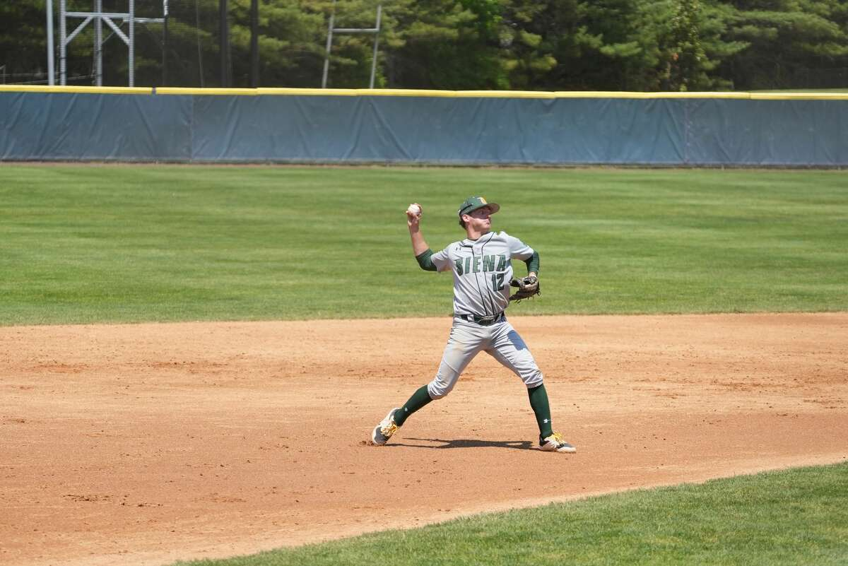 Siena baseball player Devan Kruzinski, a Colonie High graduate, has signed with the marketing firm Barstool Athletics to promote his name, image and likeness. (Monmouth athletics)