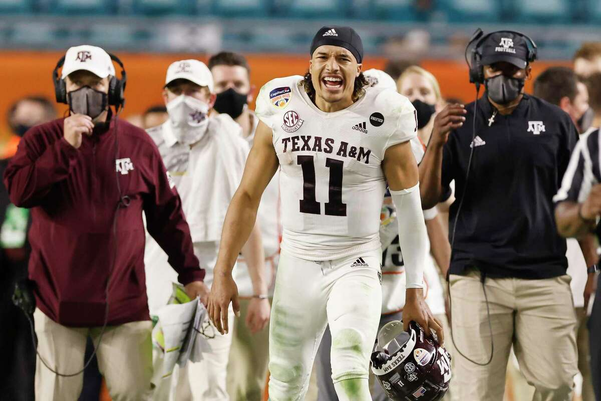 Kellen Mond, who starred at Reagan for three years before transferring to IMG Academy, was a rare four-year starter at quarterback for Texas A&M. He capped his career with an Orange Bowl win.