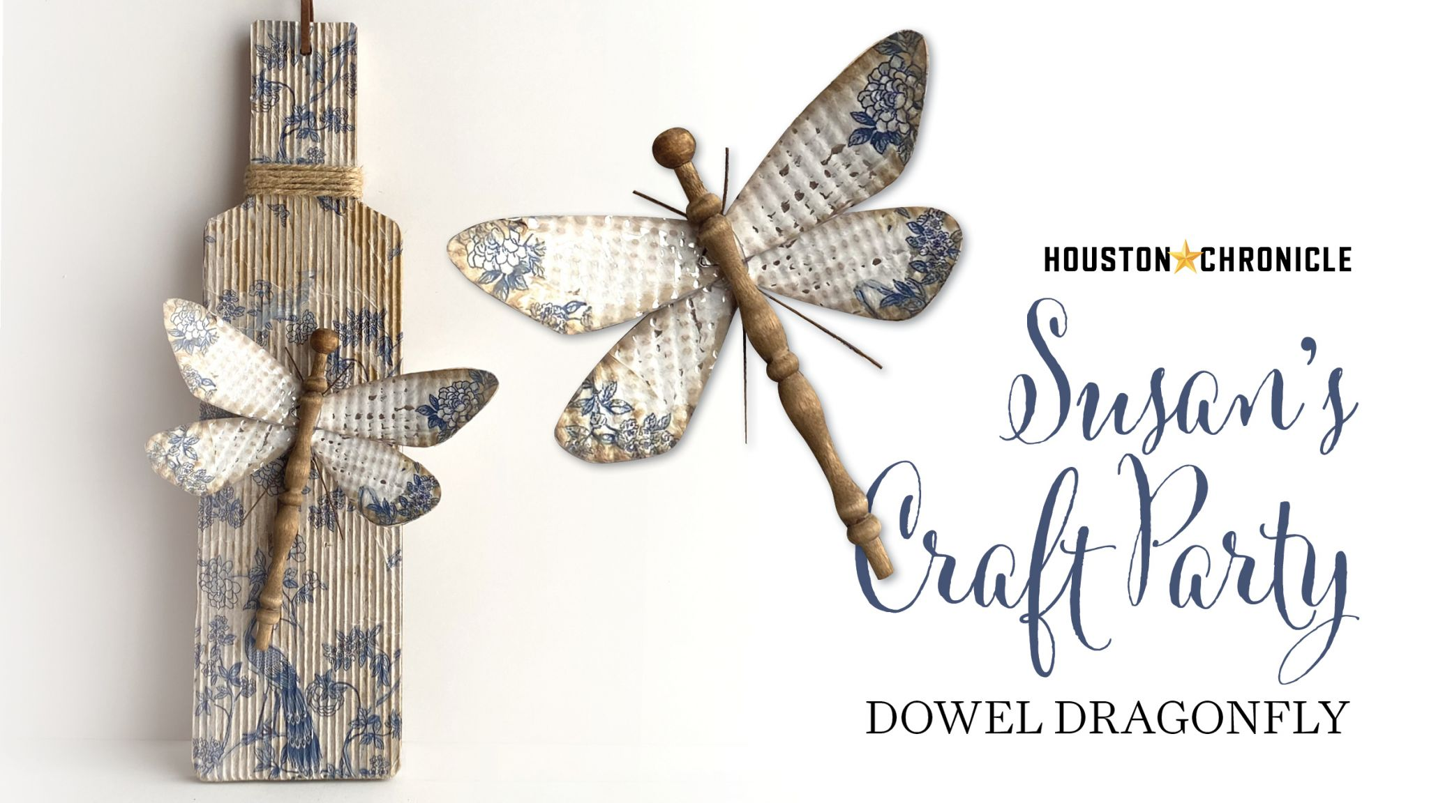 Here's how to make a dowel dragonfly with Susan's Craft Party