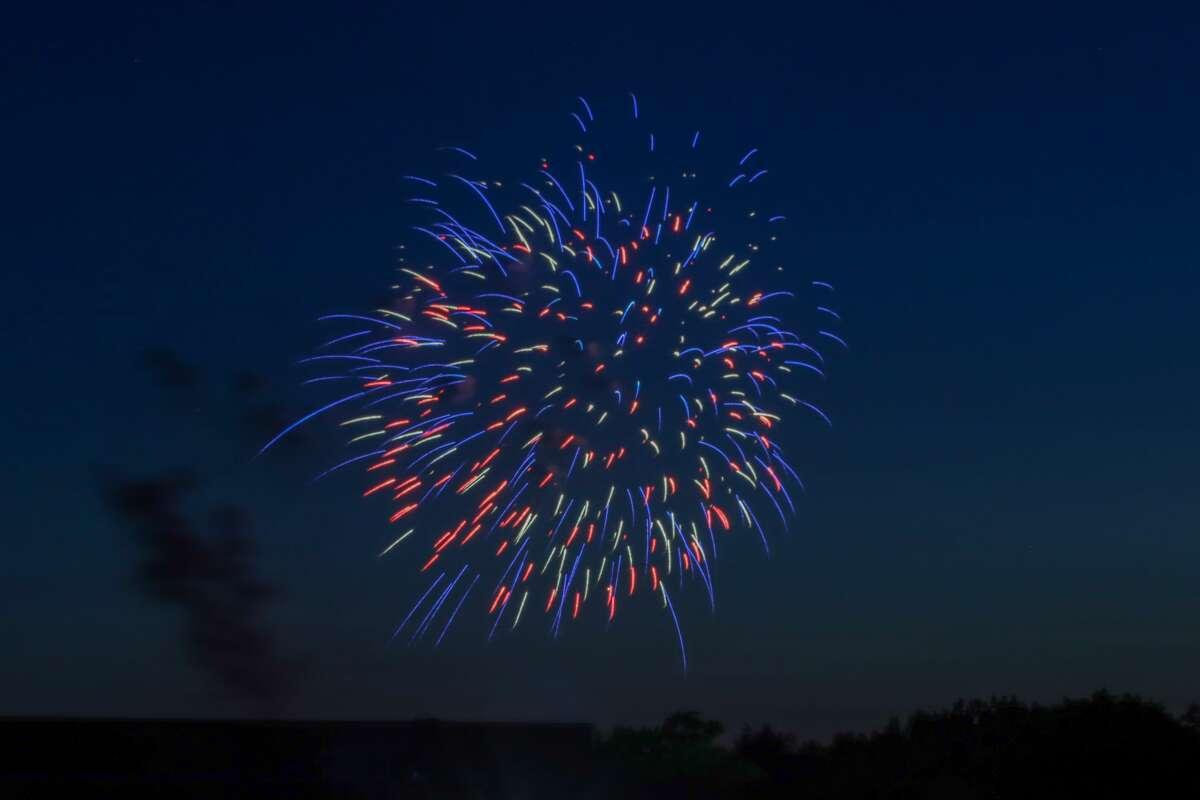 Fireworks light up the night sky over Caseville July 3.