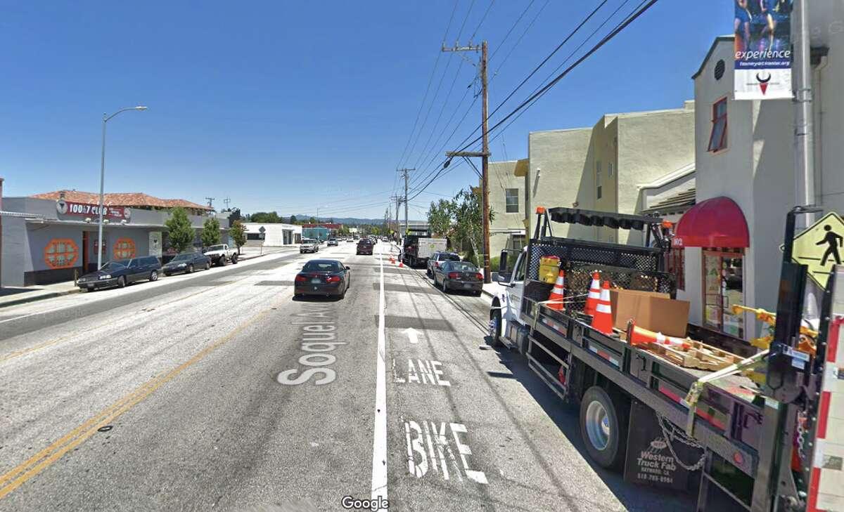 The 900 block of Soquel Avenue in Santa Cruz.