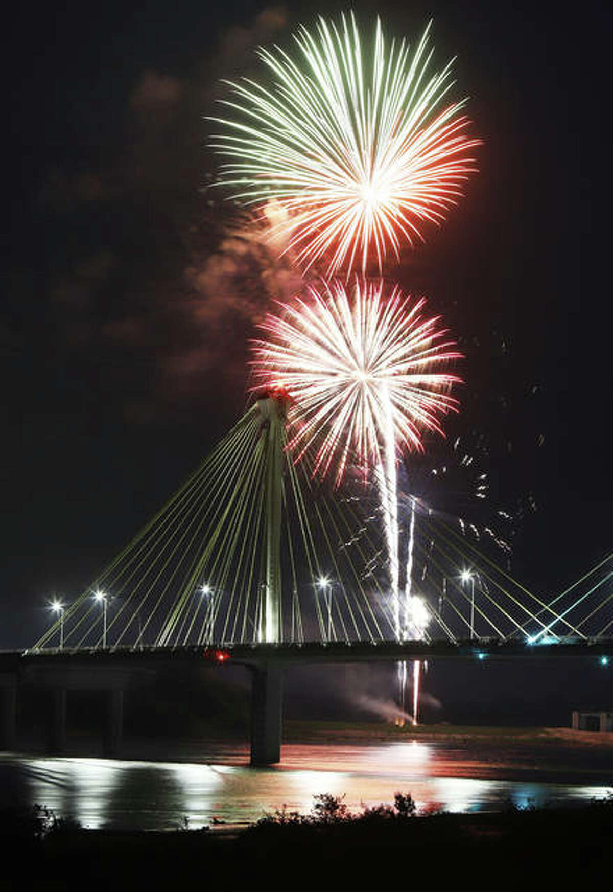 FILE - A photo from Saturday night's fireworks in Alton.