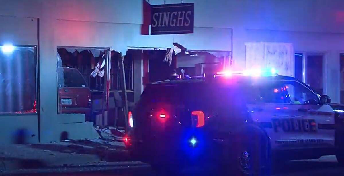 A driver crashed into Singhs Vietnamese restaurant around 2 a.m. Sunday, police said.
