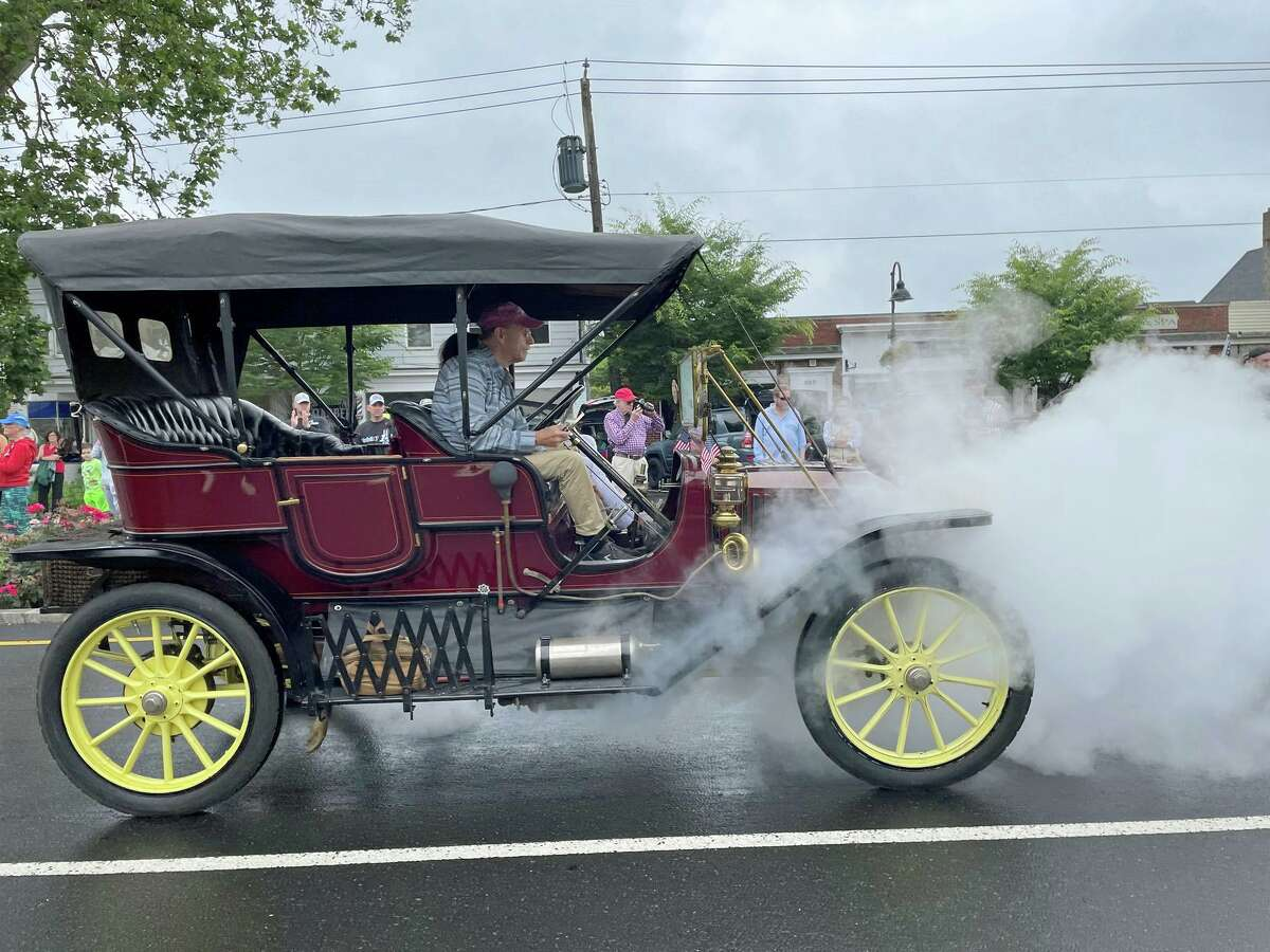 An antique car was part of the Madison's Fourth of July Parade this year, July 4, 2021.
