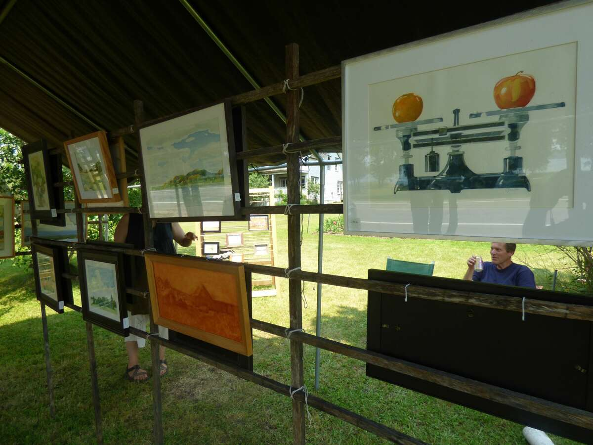 Artists in Onekama and Arcadia showcased their work at Art Snake this weekend.