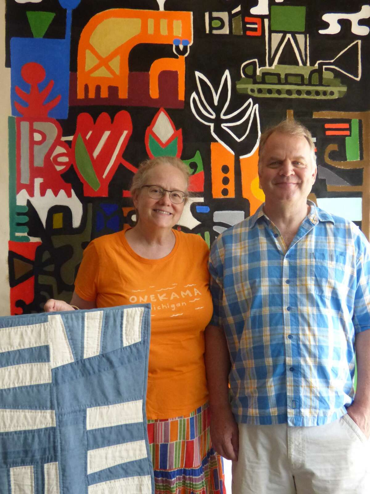 Susan and Jamey Barnard show their work at Handstand Studio in downtown Onekama.