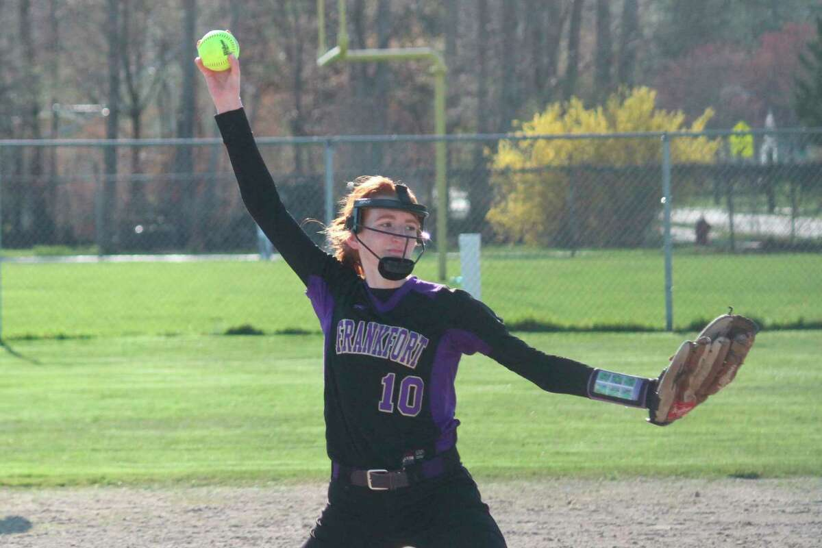 Taylor Myers earned all-state honors in softball while also running track this spring. (Record Patriot file photo)