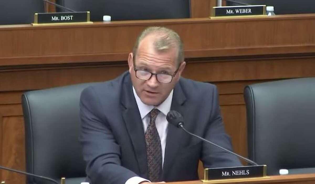 U.S. Rep. Troy Nehls speaks before the U.S. Army Corps of Engineers on July 2, 2021.