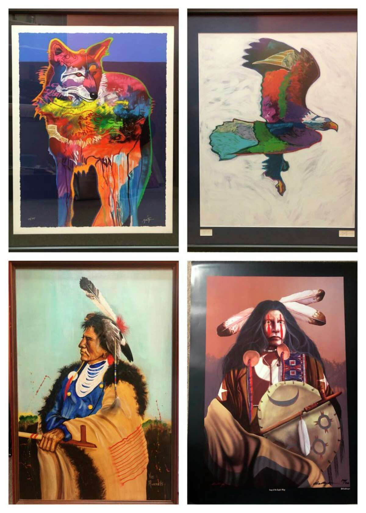 The Artworks exhibitfeaturesartists Paul Collins, Leonardo Nierman, John Nieto, Vic Runnels, and J.D. Challenger and comes from the collection of Charmaine Lucas and runs through August. (Courtesy photo)