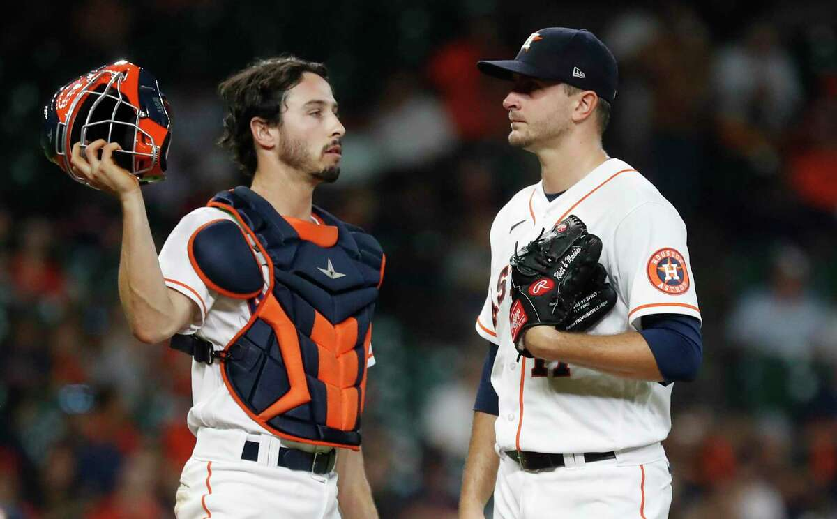 Garrett Stubbs has matched up well catching Jake Odorizzi during his time up with the Astros.
