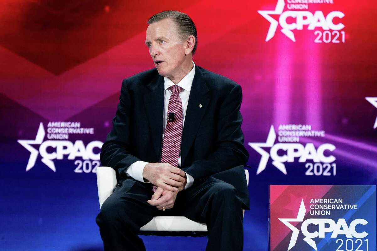 FILE -- Rep. Paul Gosar (R-Ariz.) speaks at the Conservative Political Action Conference in Orlando, Fla., on Feb. 27, 2021. Rep. Gosar's association with the white nationalist Nick Fuentes is the most vivid example of the Republican Party's growing acceptance of extremism. (Erin Schaff/The New York Times)