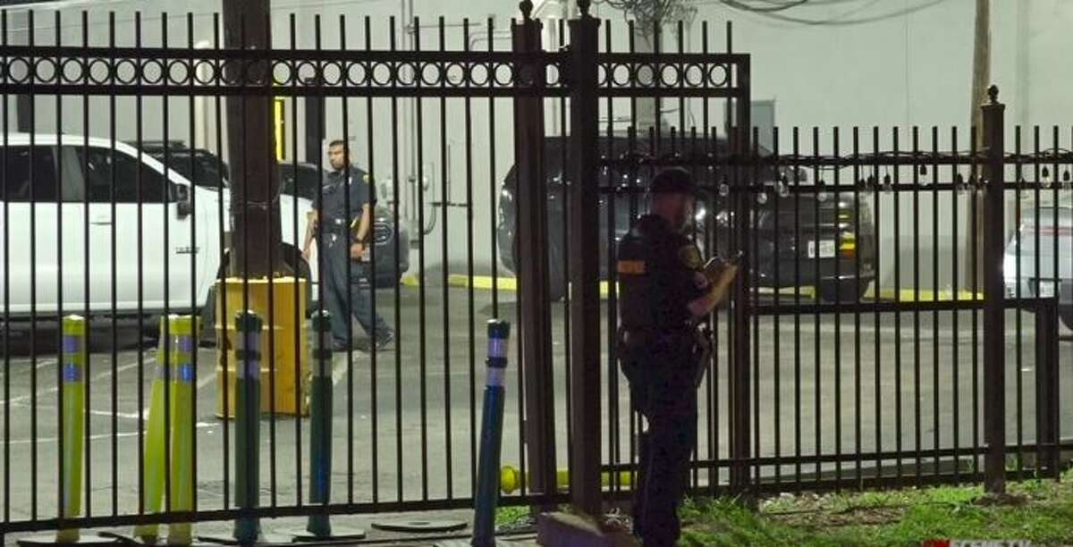 A man was wounded in a drive-by shooting early Monday at a west Houston bar, police said.