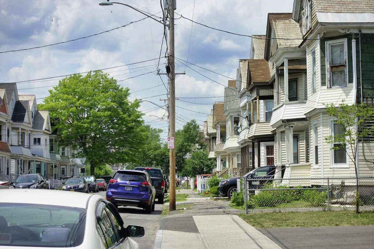 A view down the 800 block of Lincoln Avenue in Schenectady on Sunday, June 27, 2021. (Paul Buckowski/Times Union)