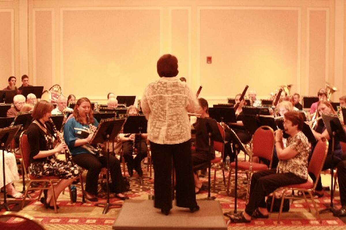Kathleen Richards Ehlinger conducts the Guilderland Town Band. (Provided)