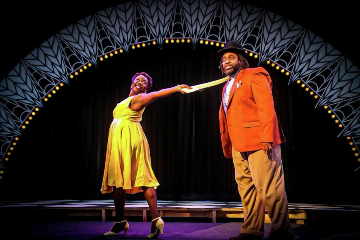 """Mariah Lyttle, left, and Hayes Fields perform in the Park Playhouse production of """"Ain't Misbehavin"""" at the Washington Park Lakehouse stage in Albany. The show runs at 8 p.m. Tuesday through Saturday, through July 24. (Willie Short/Playhouse Stage Company.)"""