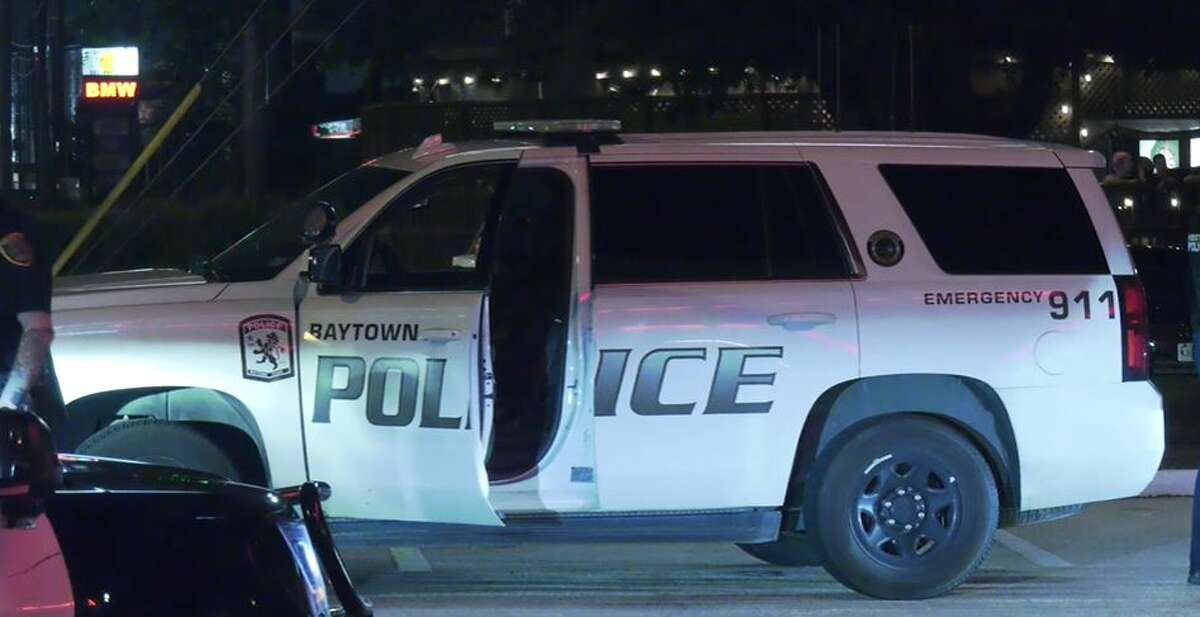 A woman fled from police in a stolen Baytown police SUV on Monday night in Houston.