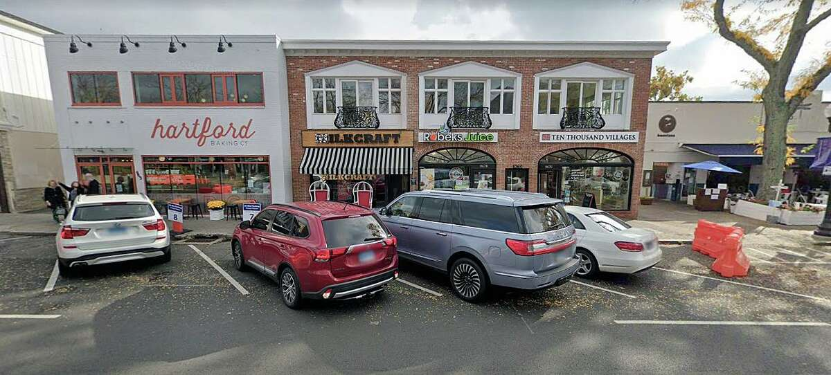 A Google Streetview screenshot, showing the Milkcraft on Farmington Avenue in West Hartford, Conn. The establishment is closed to the public after a ceiling collapse inside the ice cream shop on Monday, July 5, 2021.