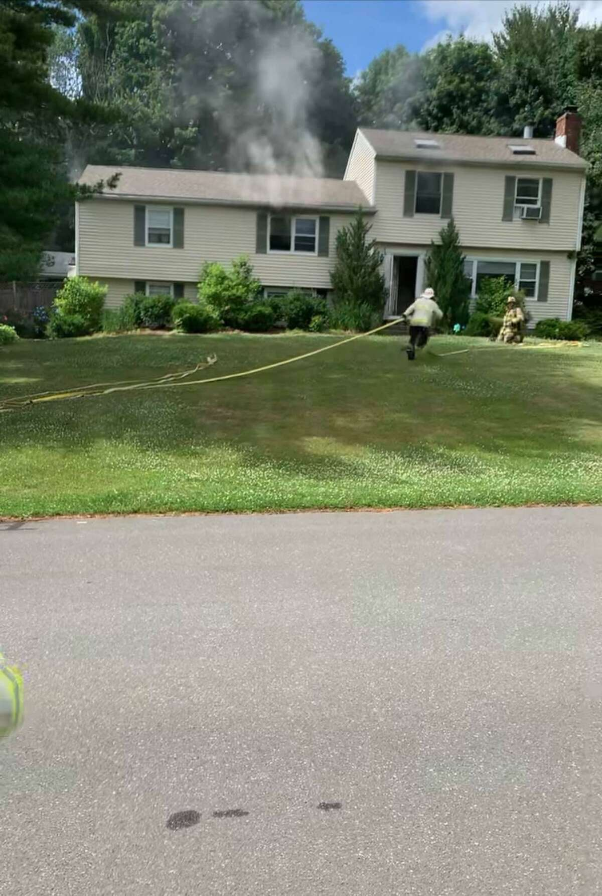 Bethel firefighters responded to a fire in a bedroom at a Quaker Ridge Road home on Sunday, July 4, 2021.