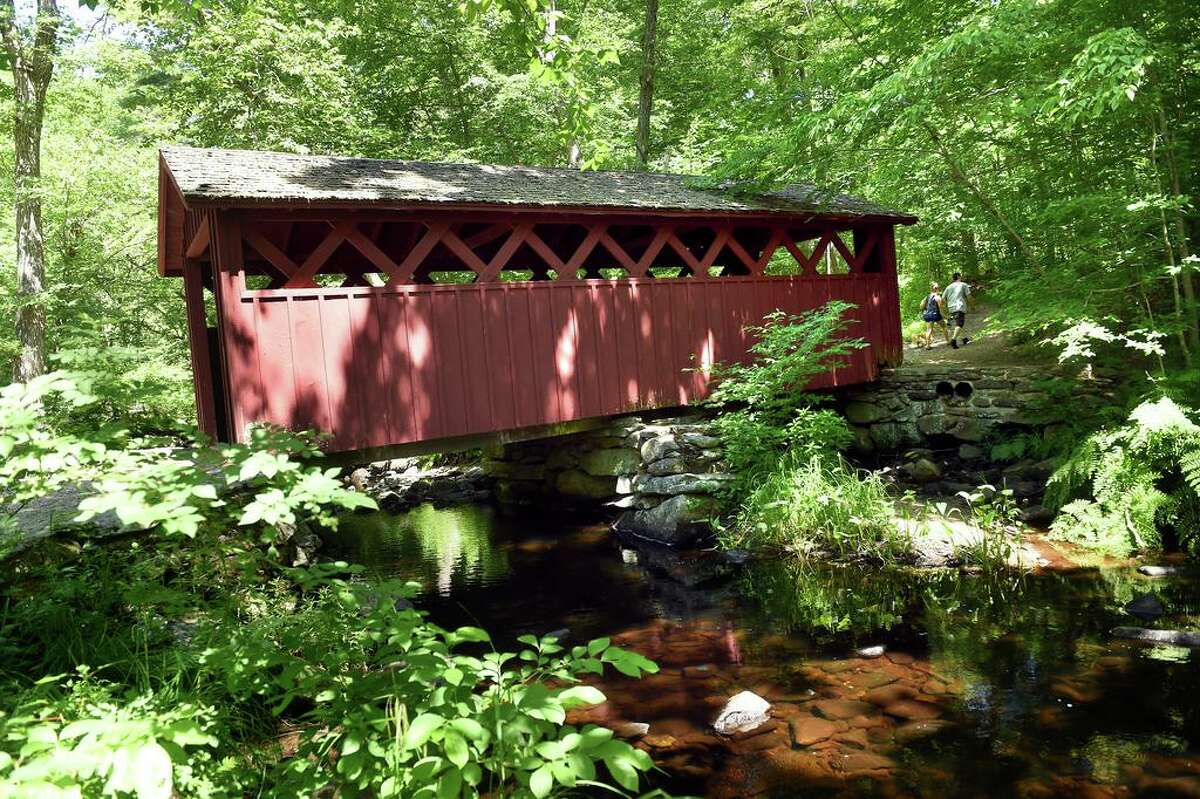 The covered bridge in Chatfield Hollow State Park in Killingworth photographed on June 30, 2021.