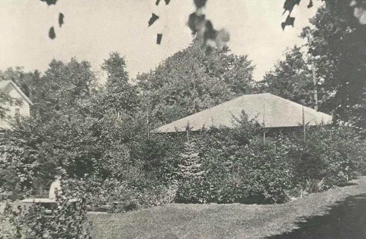 Pool and landscape gardening, Burton H. Carter residential grounds. Carter worked in dry goods. 1926